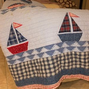 Pier 1 Kids quilt & throw pillow